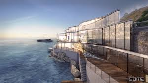 amazing glass home on the edge of sea and rock haammss
