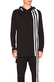 y 3 qasa low top y 3 yohji yamamoto 3 stripes hoodie black men