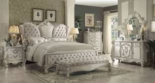 King Sleigh Bedroom Sets by Acme 21127ek Versailles 4pcs Ivory Bone White King Sleigh Bedroom Set