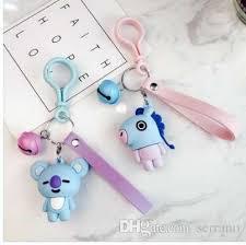 acrylic rabbit ring holder images Kpop bts bt21 cartoon car keychain jimin tata acrylic keyring jpg