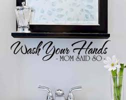 Wall Decor Bathroom Bathroom Decal Etsy