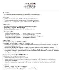 Sample Resume Management Position by Sample Resume Environmental Management Http Exampleresumecv