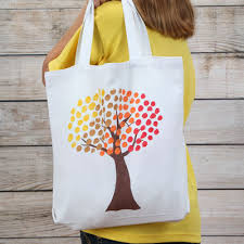 fingerprint tree tote ilovetocreate