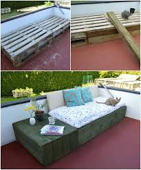 Patio Furniture With Pallets by Creative Outdoor Furniture Made From Wood Pallets U2014 Crustpizza Decor