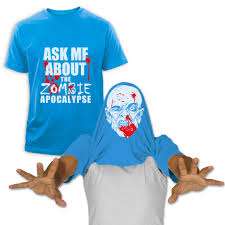 ask me about my zombie flip up t shirt halloween easy costume pull