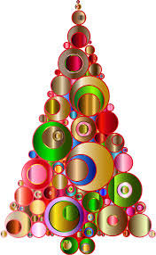 clipart colorful abstract circles christmas tree 2