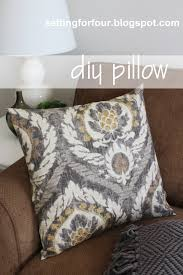 diy pillow cover 5 minutes to make setting for four make this quick and easy diy pillow cover tutorial it just takes 5 minutes to