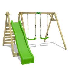 si e balancoire fatmoose jollyjay fast balançoire bois portique les enfants