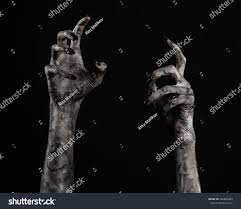 halloween theme background terrible zombie hands dirty hands mummy stock photo 226863469