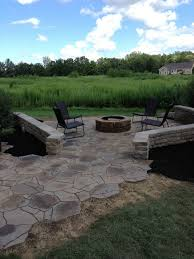 belgard fire pit patio addition with fire pit