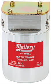 mallory comp cartridge style fuel filters for carburetion 29247