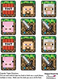 minecraft cupcakes printable minecraft cupcake toppers minecraft by pressedpixels