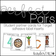 pair partner cards target adhesive labels by kindertails