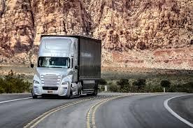 freightliner inspiration autonomous semi truck hits nevada roads