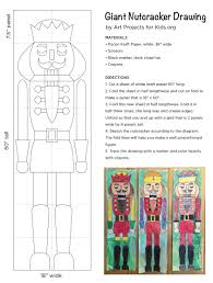 giant nutcracker drawings art projects for kids