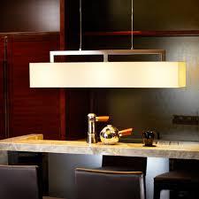 Bar Pendant Lighting Style E27 Light Source Fabric Shade Rectangular Pendant Lamp