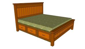 Bed Frame Plans With Drawers How To Build A Bed Frame With Drawers