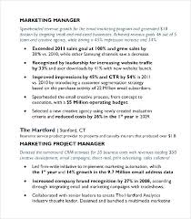 Marketing Manager Resume Template Digital Media Email Marketing Manager Resume Sample Pdf Free