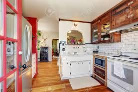 antique white usa kitchen cabinets vintage kitchen cabinets and white tile back splash trim kitchen