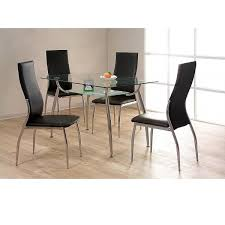 Dining Room Small Glass Table And  Chairs Sl Interior Design - 4 chair dining table designs
