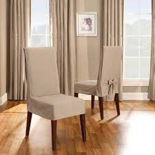 Cotton Dining Chair Covers Linen Cotton Duck Short Dining Chair Cover From Get Organized