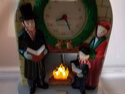 vintage soundesign musical carols mantel clock lights