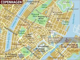 Copenhagen Map Map Of Copenhagen Stock Illustration Getty Images