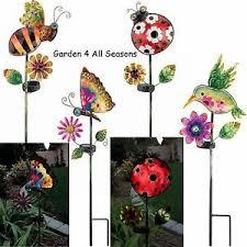 Ladybug Solar Garden Lights - solar light garden stake bee butterfly humbird ladybug creekwood