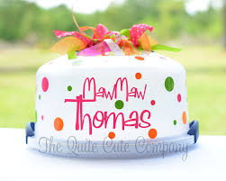 personalized cake plate make your own personalized cake plate name by thequitecutecompany