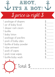 nautical baby shower ideas recipes and games free printables