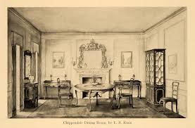 chippendale dining room table 1920 print chippendale furniture dining room l b knox original