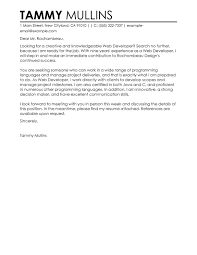 Samples Of Resume Letter by Best Web Developer Cover Letter Examples For The It Industry
