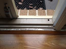 Laminate Flooring Door Threshold Repairing And Repainting A Weathered Door Sill Tmz Painting