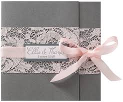 faire part mariage avec photo faire part mariage romantique gris dentelle ruban roses belarto
