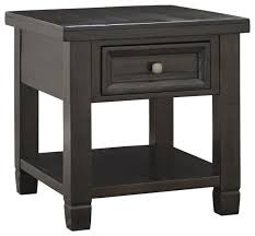 Oak Accent Table Ashley Townser End Table Grayish Brown Transitional Side