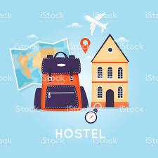 hostel building facade budget low cost travel planning summer