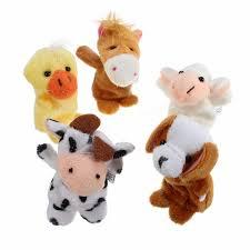 10pcs farm animals cartoon story telling finger hand funny puppets