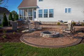 How To Build Fire Pit On Concrete Patio Concrete Patio Fire Pit Home Design Ideas And Pictures Gallery