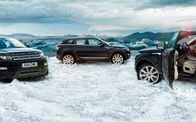 range rover evoque wallpaper land rover evoque in the snow wallpapers and images wallpapers