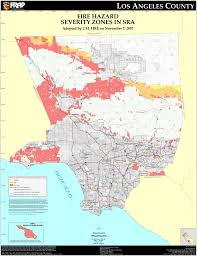 California Zip Code Map by Cal Fire Los Angeles County Fhsz Map