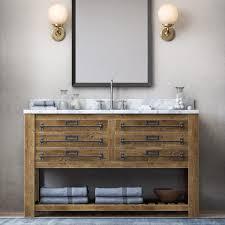 rh mercantile extra wide single vanity sink 3d model in bathroom