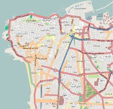 Map Of Central Asia Large Detailed Road Map Of Central Part Of Beirut City Beirut