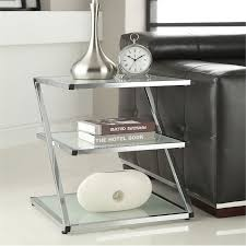 living spaces side tables this functional side table has a beautiful chrome finish with