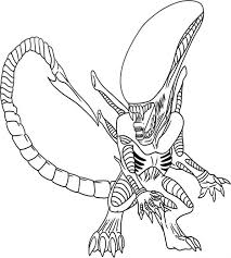 alien coloring pages getcoloringpages