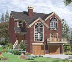 multi level sloping lot plan 69029am architectural designs