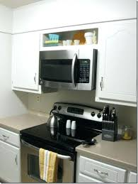 Cooktop Cabinet Microwave Over Cooktop Height Microwave Over Stove Clearance