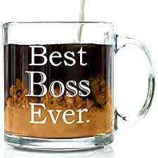amazon com best boss ever glass coffee mug 13 oz unique