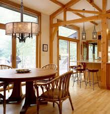 wonderful chandeliers for kitchen table using large drum lamp