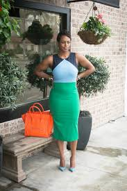 colorblock midi dress by dvf styles by doniel