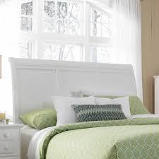 buy hayden place sleigh headboard size queen finish linen white